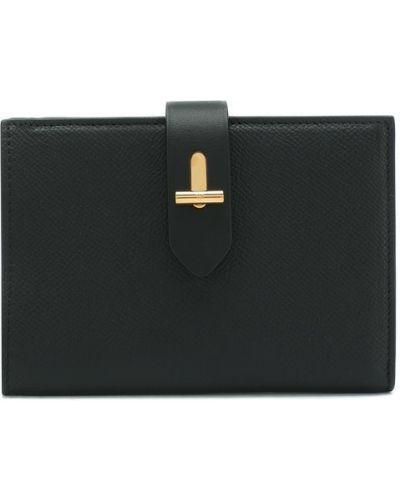 Кожаный кошелек черный для монет Tom Ford