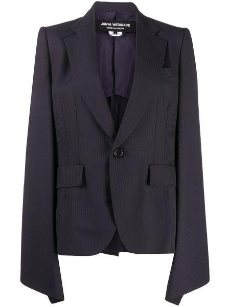 Шерстяной синий пиджак с карманами Junya Watanabe Comme Des Garçons Pre-owned