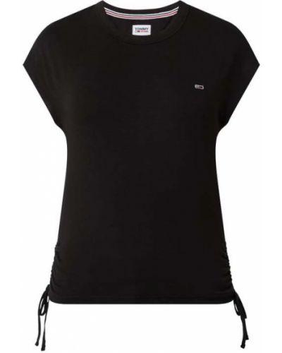 Czarny koszula jeansowa z wiskozy Tommy Jeans