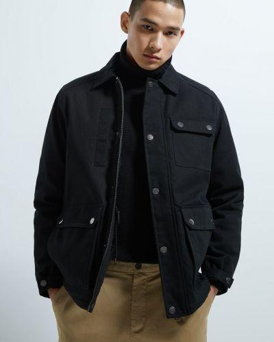 Черная куртка на молнии Zara