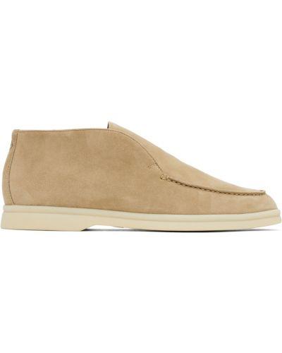Белые замшевые ботинки Loro Piana