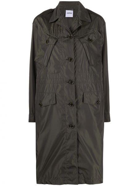 Długi płaszcz z kołnierzem z kieszeniami Aspesi