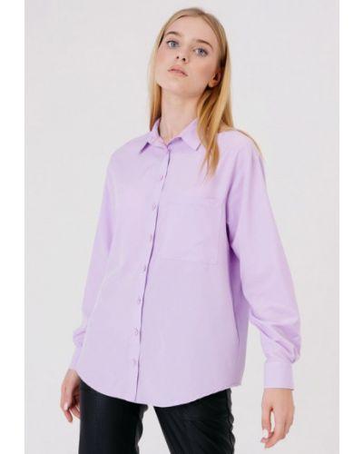 Фиолетовая блузка с длинными рукавами Bessa