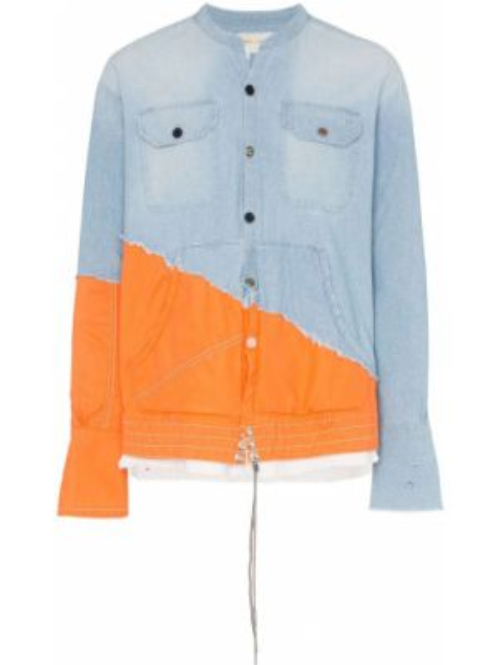 Koszula z długim rękawem dżinsowa długa Greg Lauren