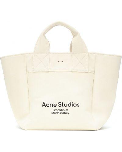 Bawełna biały brezentowy torba na ramię przeoczenie Acne Studios