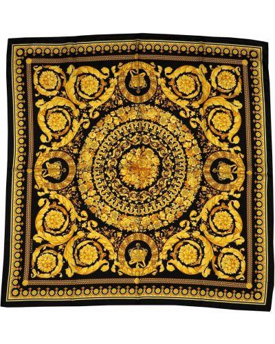Żółty szalik Versace Vintage