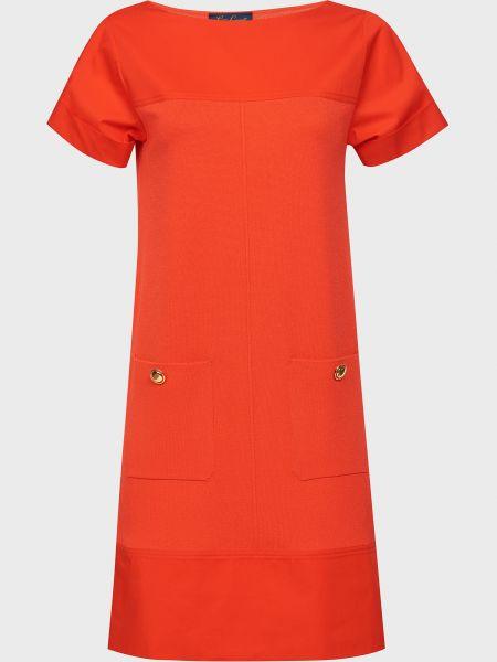 Красное платье из вискозы Luisa Spagnoli