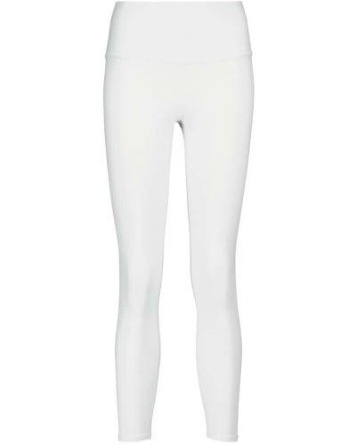 Нейлоновые белые леггинсы для йоги Alo Yoga