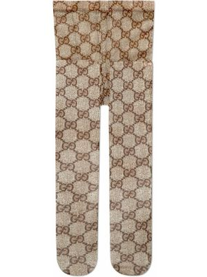 Коричневые колготки из фатина Gucci