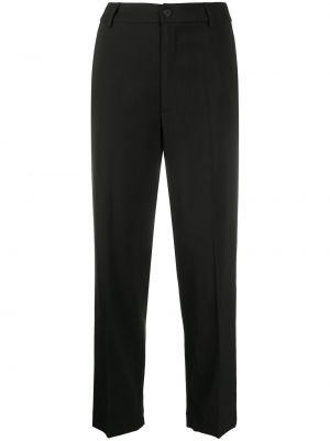 Прямые черные брюки с карманами Forte Forte