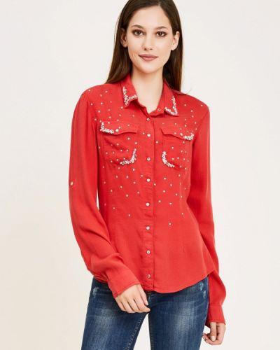 Красная рубашка с длинным рукавом D'she