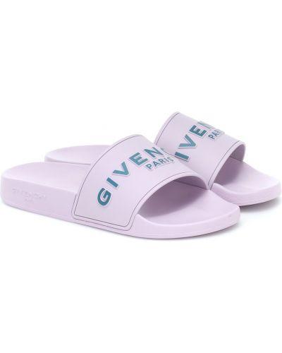 Fioletowy klapki Givenchy
