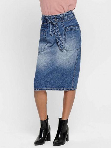 Синяя джинсовая юбка Jacqueline De Yong