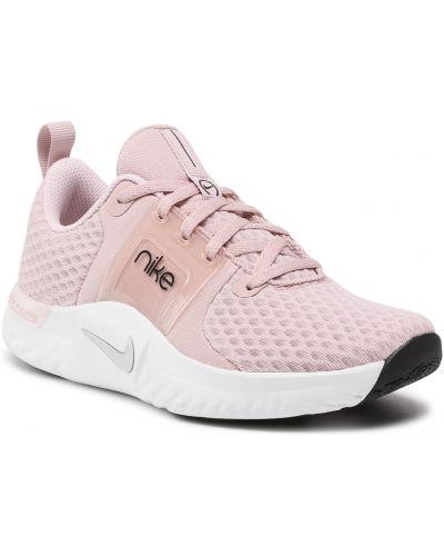 Buty sportowe srebrne - różowe Nike