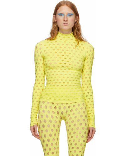Żółty golf z długimi rękawami Maisie Wilen