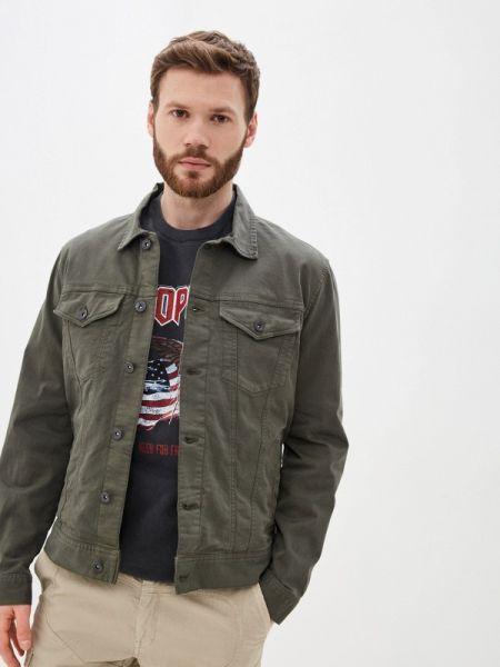 Джинсовая куртка хаки прозрачная Marks & Spencer