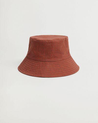 Pomarańczowy kapelusz bawełniany Mango