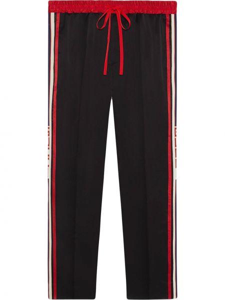 Спортивные черные спортивные брюки Gucci