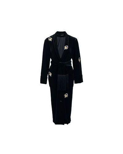 Черное бархатное платье Vuall