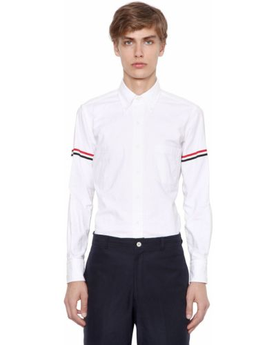 Оксфордская рубашка в полоску с карманами Thom Browne