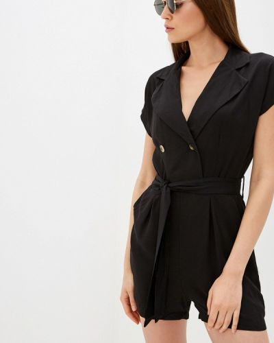 Комбинезон с шортами черный By Swan