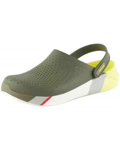 Пляжные шлепанцы для отдыха зеленый Crocs