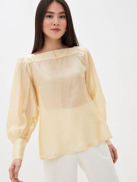 Желтая блузка с длинным рукавом Solou