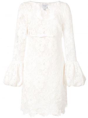 Ажурное шелковое белое платье макси Giambattista Valli