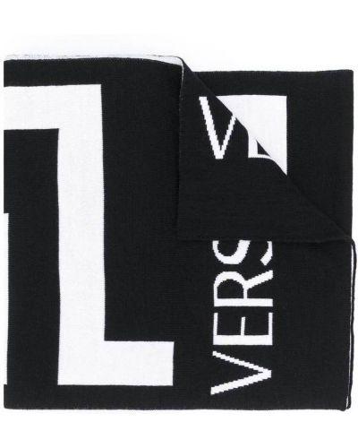 Biały szalik wełniany Versace