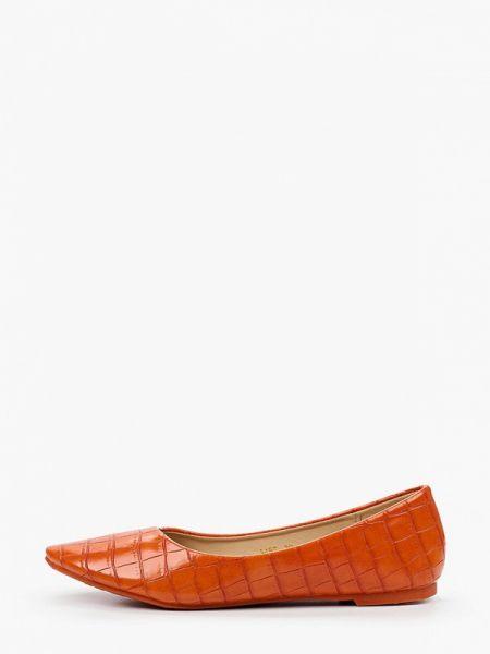 Балетки с острым носком кожаные Ideal Shoes®