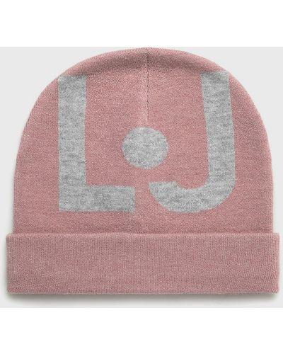 Зимняя шапка с отворотом розовый Liu Jo