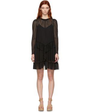 Платье макси на пуговицах с отложным воротником See By Chloe
