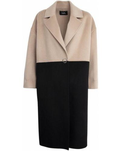Czarny płaszcz oversize Karl Lagerfeld