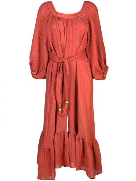 Платье с поясом с рукавами с вырезом Lisa Marie Fernandez