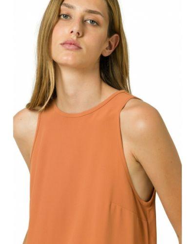 Pomarańczowa koszulka bez rękawów Ivy & Oak