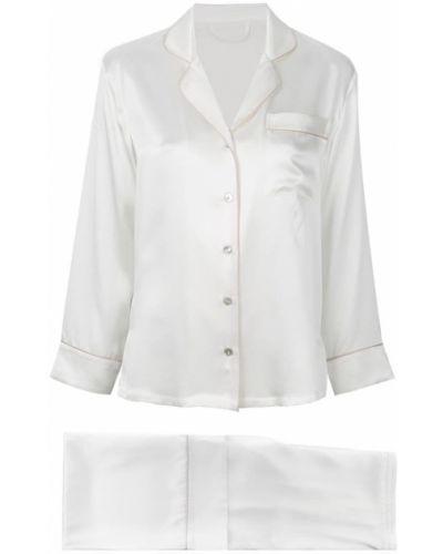 Пижама шелковая белая Fleur Of England