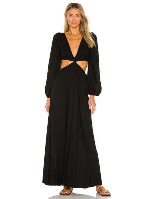 Вечернее платье с оборками - черное Indah