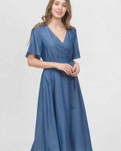 Платье с запахом синее Raimaxx