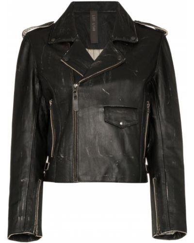 Черная короткая куртка с манжетами Lot Lthr