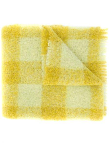 Żółty szalik z moheru przycięte Acne Studios
