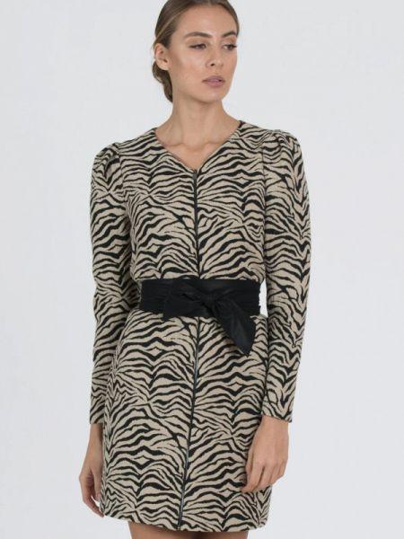 Вечернее платье осеннее бежевое Raimaxx