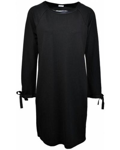 Czarna sukienka sweterkowa na co dzień Margittes