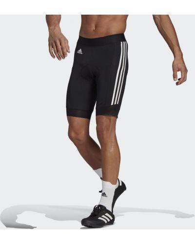 Черные шорты со вставками без бретелек Adidas