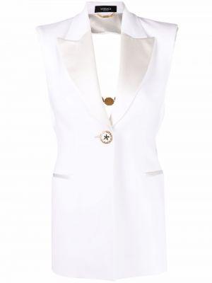 Блейзер на пуговицах - белый Versace