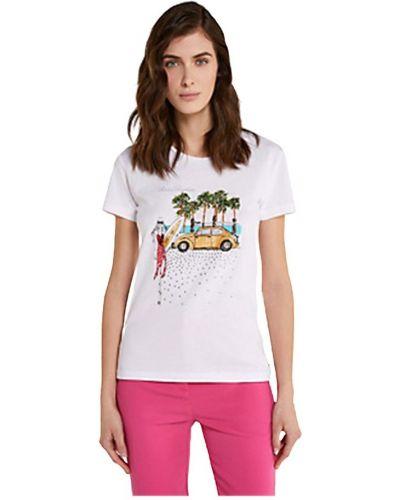 Bawełna z rękawami t-shirt z haftem Patrizia Pepe
