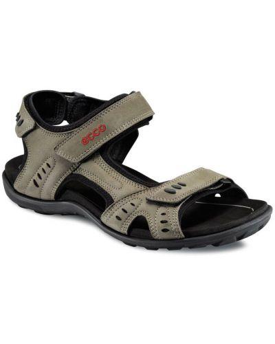Спортивные сандалии бежевые на каблуке Ecco
