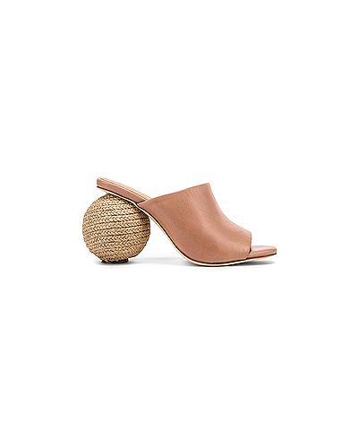 Мюли кожаные на каблуке Paloma Barcelo