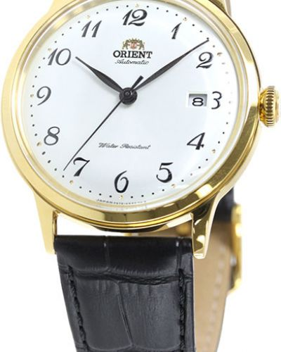 Часы водонепроницаемые с кожаным ремешком механические Orient