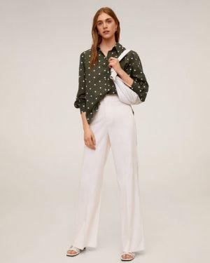 Рубашка с длинным рукавом с вышивкой классическая Mango