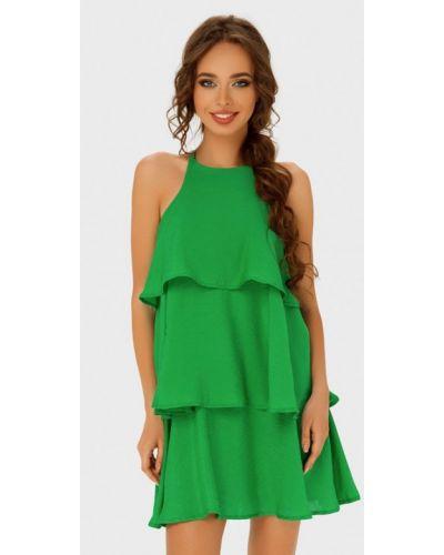 Платье мини весеннее зеленый Anushka By Anna Pavlova